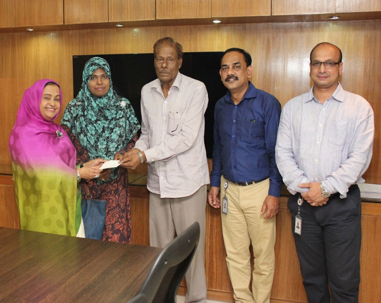 Donation for the treatment of Mr. S. A. Mainul Haque